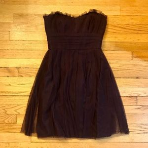 Vera Wang Tulle Plum Dress